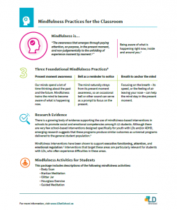 Preview of mindfulness guide document
