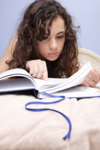 Image of a student reading