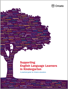 Image of cover of Supporting English Language Learners in Kindergarden guide