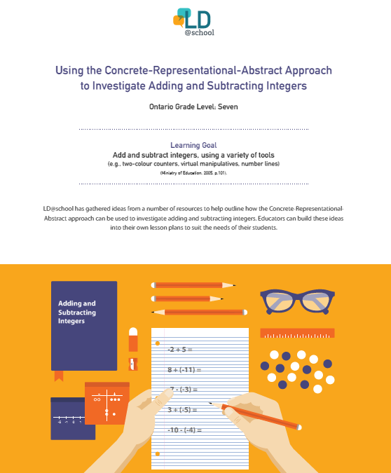 Concrete Representational Abstract An Instructional Strategy