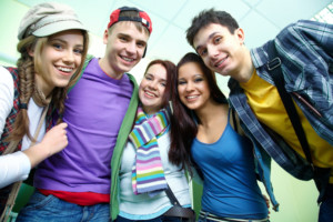Adolescents with good social skilsl