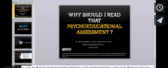 Image for the webinar: Why Should I Read that Psychoeducational Assessment?