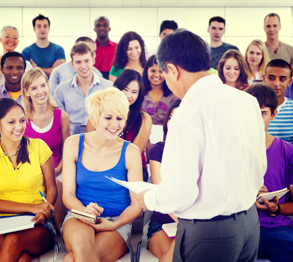 Image of high school teachers in a meeting