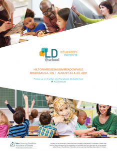 Image of the 2017 Educators' Institute program cover page
