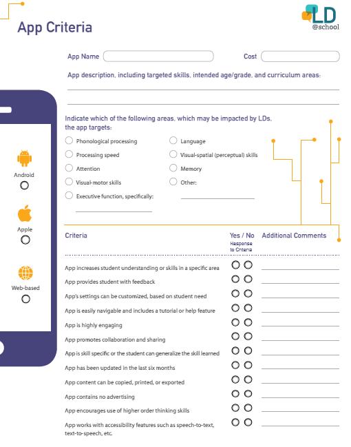 image of App Criteria