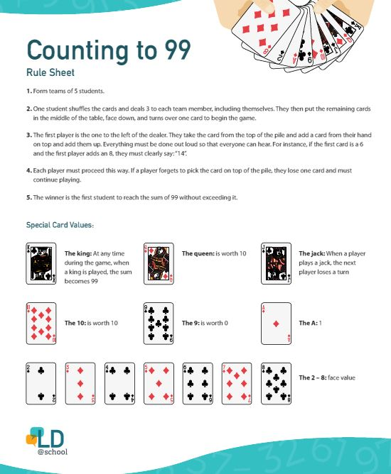 Image of the activity : counting to 99