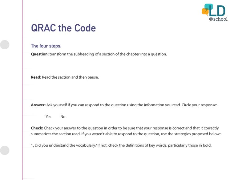 Image of the Qrac the code template.