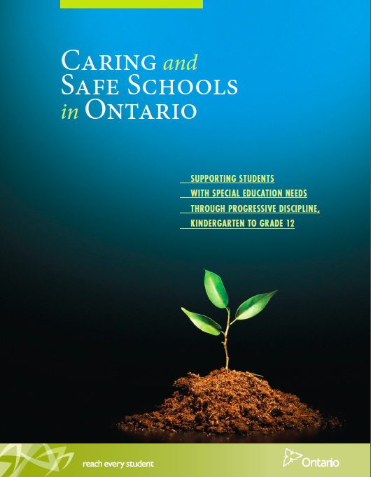 Image of the book Caring and Safe Schools in Ontario: Supporting Students With Special Education Needs Through Progressive Discipline, Kindergarten to Grade 12