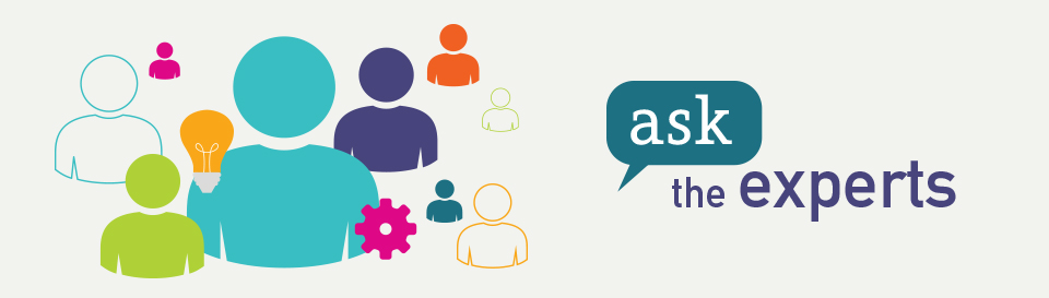 Image of the Ask the Experts logo: Assessments Assistive Technology