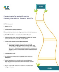 Elementary to Secondary Transition Checklist