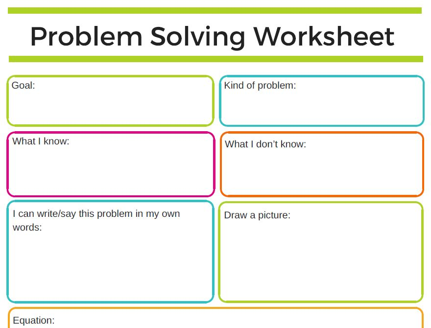 Preview of problem solving document