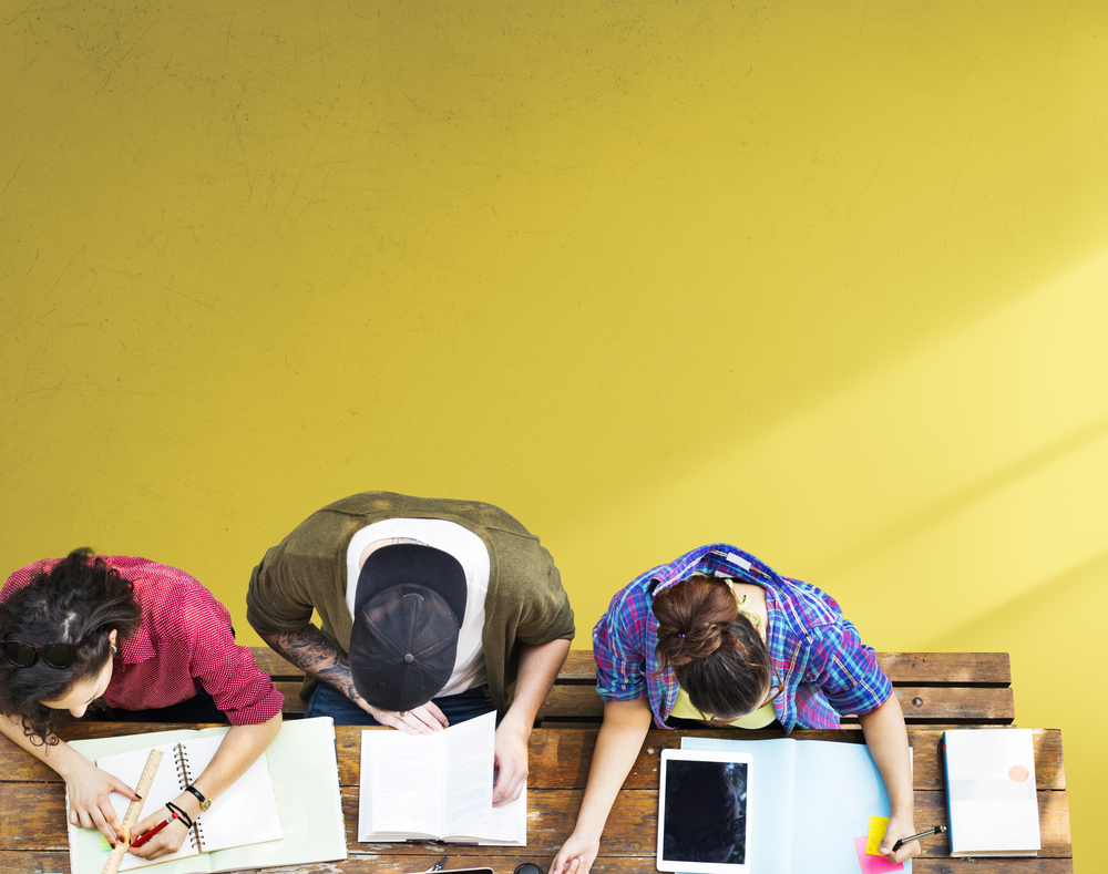Image of students studying in class