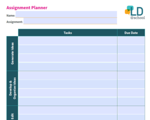 preview of Assignment Planner template