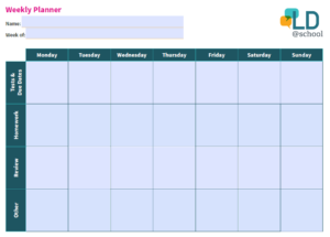 preview of Weekly Planner template