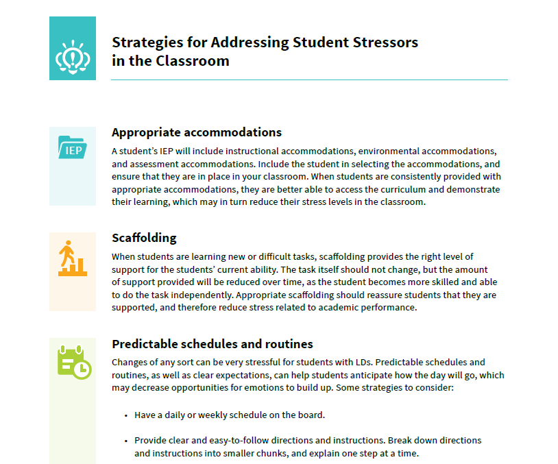 Preview of the document Strategies for Addressing Student Stressors in the Classroom
