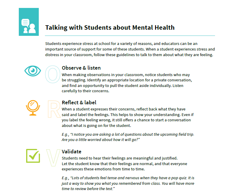 Preview of the document Talking With Students About Mental Health