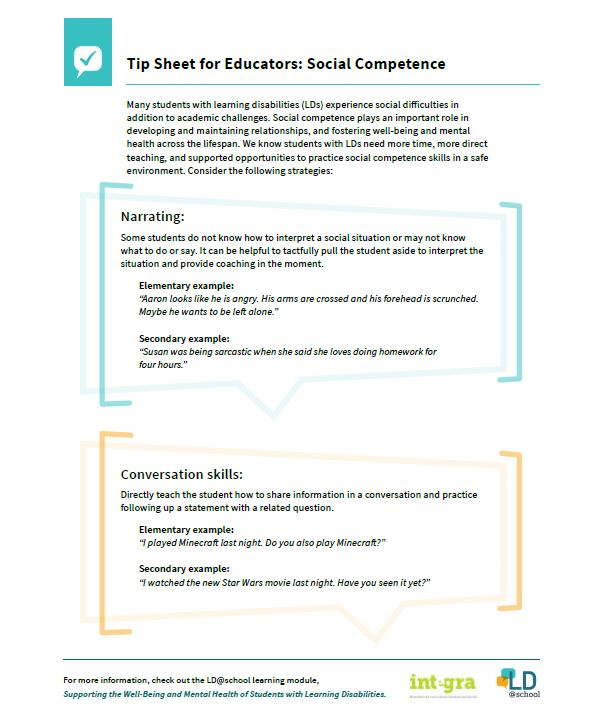 Image of Tip Sheet for Educators: Social Competence