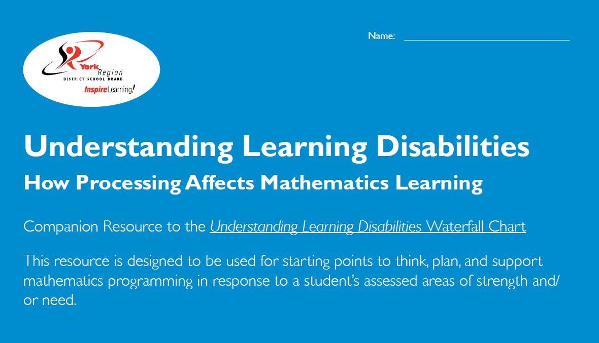 Understanding Learning Disabilities: How Processing Affects Mathematics Learning