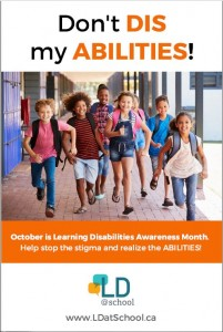 LD Awareness Month poster 1